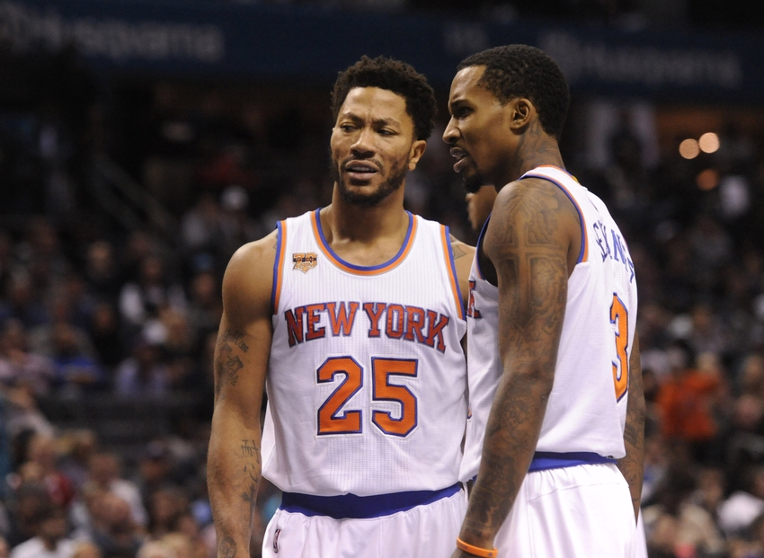 New York Knicks guard Derrick Rose (25) is in my DraftKings daily picks for today. Mandatory Credit: Sam Sharpe-USA TODAY Sports