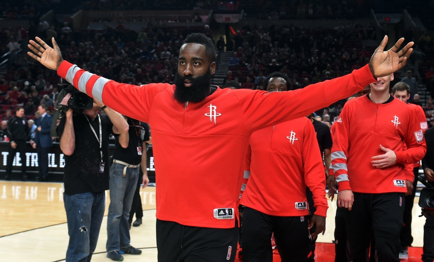 Houston Rockets guard James Harden (13) is in my DraftKings daily picks lineup for today. Mandatory Credit: Steve Dykes-USA TODAY Sports