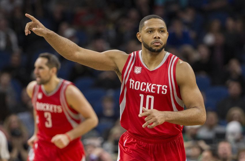Houston Rockets guard Eric Gordon (10) is in today's DraftKings daily picks. Mandatory Credit: Jesse Johnson-USA TODAY Sports