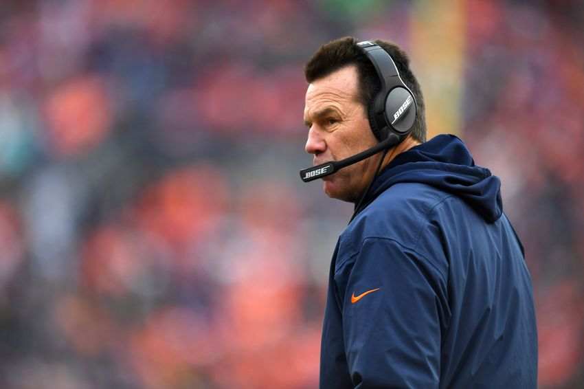 Jan 1, 2017; Denver, CO, USA; Denver Broncos head coach Gary Kubiak on the sidelines in the first half against the Oakland Raiders at Sports Authority Field. Mandatory Credit: Ron Chenoy-USA TODAY Sports