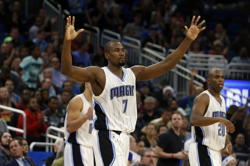 Orlando Magic forward Serge Ibaka (7) is in today's DraftKings daily picks lineup. Mandatory Credit: Kim Klement-USA TODAY Sports