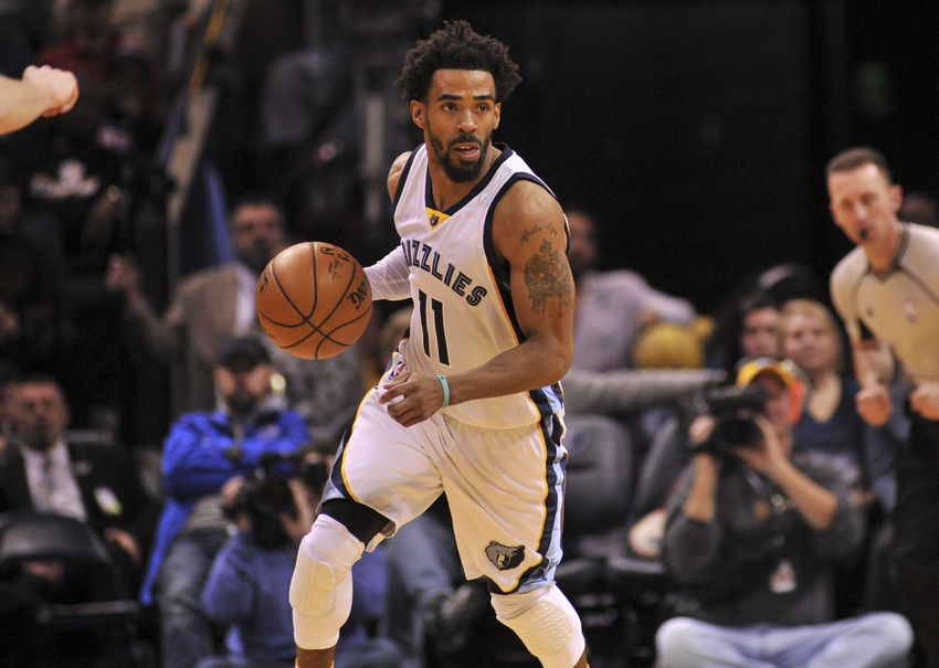 Memphis Grizzlies guard Mike Conley (11) is in today's FanDuel daily picks. Mandatory Credit: Justin Ford-USA TODAY Sports