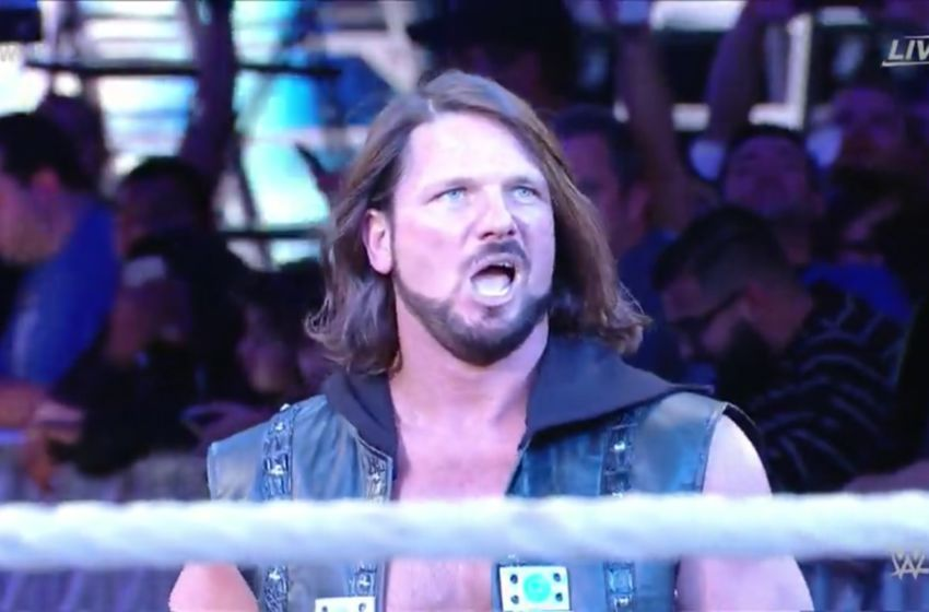 AJ Styles is WWE World Champion and don't you forget it.