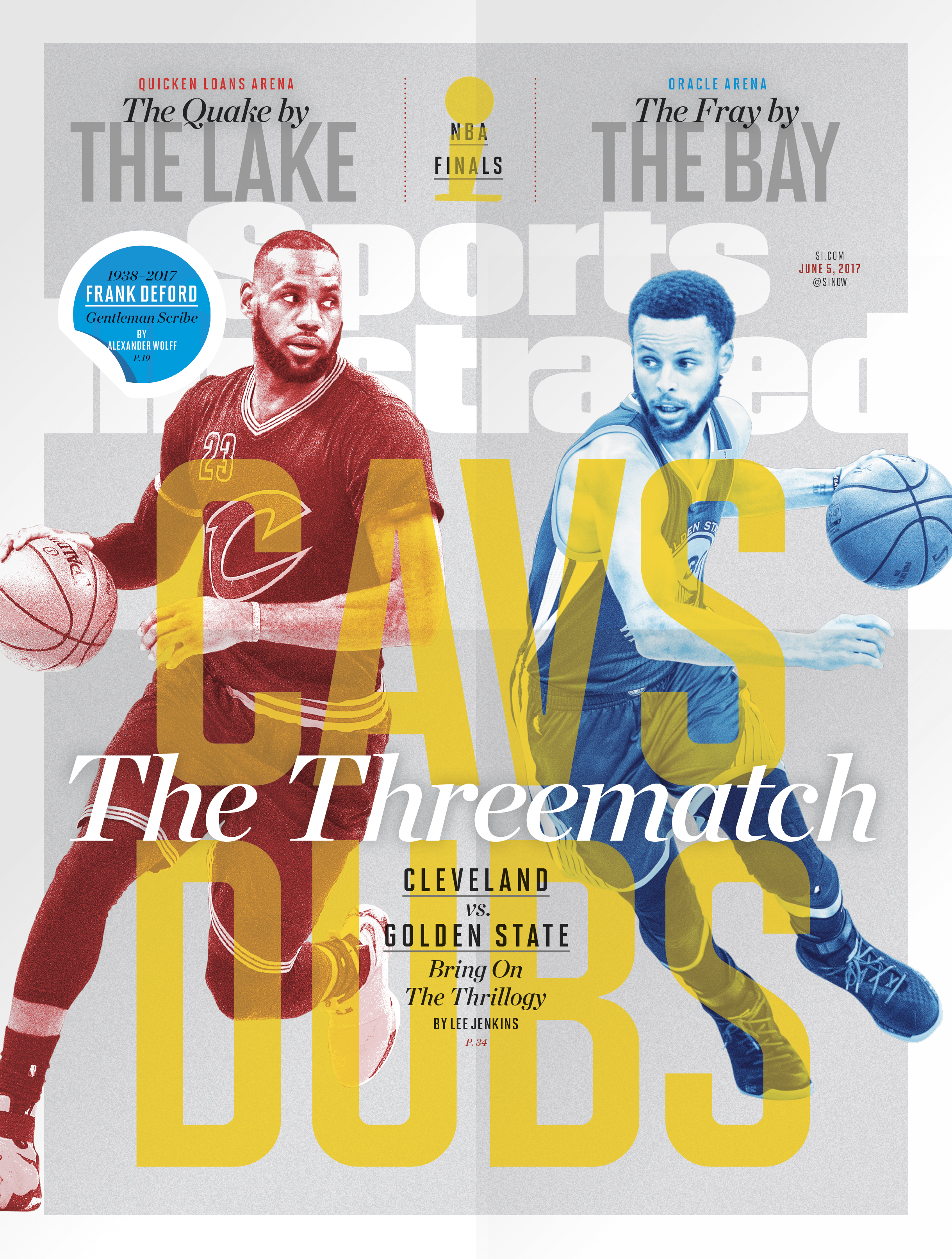 SI features LeBron James and Stephen Curry on NBA Finals' Issue cover
