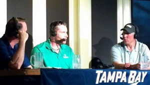 Rick Peckham, Chris Dingman, and Dave Andreychuk at The Chili's Radio Show. Taken By: Dolly Reynolds-Dolce