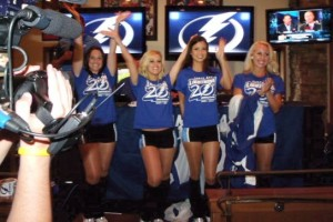 The Lightning Girls reveal the 20th Anniversary logo at the Official Draft Part, photo taken by George Fulton