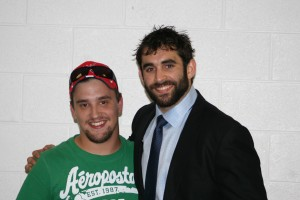 Angelidis and myself after a Playoff game..