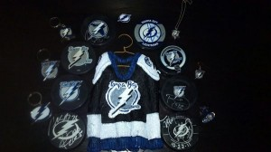 Items with the different logos throughout the years. Sweater credit to: http://www.facebook.com/hockey.starhangers