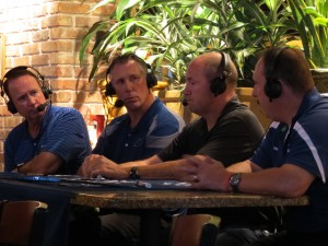 Lightning hosts Rick Peckham and Dave Andreychuk with guests Coach Lacroix and Coach Raymond
