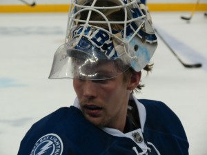 2013 Home Opener VS Washington Capitals - Anders Lindback by: Dolly Dolce