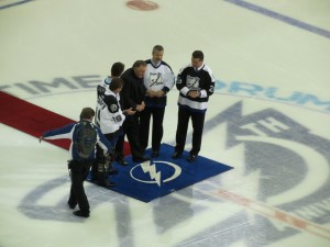 2013 Home Opener VS Washington Capitals -Ceremonial puck drop by: Dolly Dolce