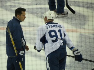 Guy Boucher & Steven Stamkos talk at training camp day 1 by: Dolly Dolce