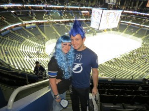 Lightning fans Johnny Grove and Melissa Dehart by Dolly Dolce