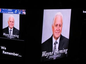 Wayne Fleming tribute at TBL VS NJD taken by Dolly Dolce
