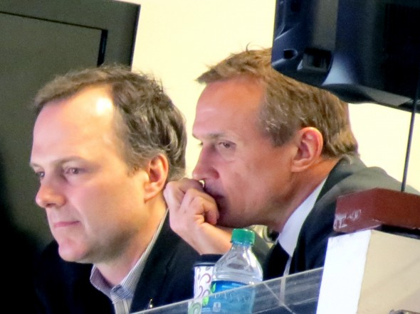 Jon Cooper and Steve Yzerman taken by Dolly Dolce
