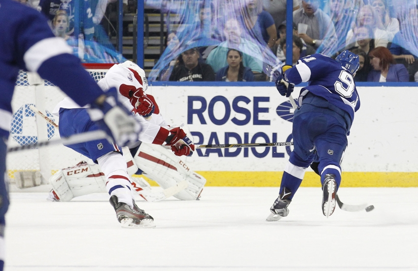 Tampa Bay Lightning Beat Montreal 4 2 To Tie For First Place