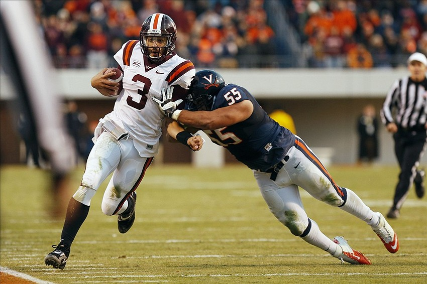 What position should Logan Thomas play in the Sun Bowl?