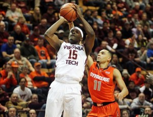Ben Emelogu and VT's talented young guards avoided turnovers last night.