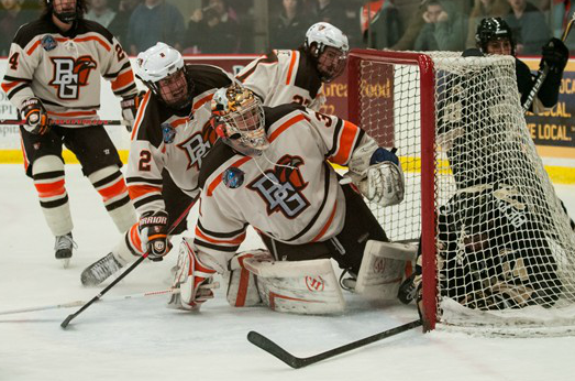 Bowling Green is contending for a WCHA title in its first year in the revamped conference. (Photo: BGSU Athletics)