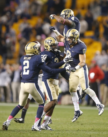oct 16 2014 pittsburgh pa usa pittsburgh panthers defenders terrish