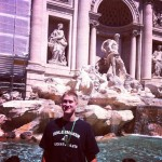 Travis Carroll: In front of a huge fountain in Rome