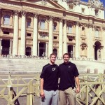 Travis Carroll: Me and big Sandi in front of St. Peters Basilica (Biggest church in the world)
