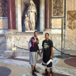 Terone Johnson: Here is me and Jacob inside the pantheon in Rome