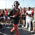 Sep 7, 2013; Louisville, KY, USA; Louisville Cardinals quarterback Teddy Bridgewater (5) walks to the stadium during the Card March before the game against the Eastern Kentucky Colonels at Papa John