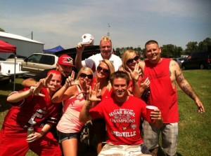 University of Louisville Tailgating. Amber McDonald and crew tailgating in the Boy Scout lot.