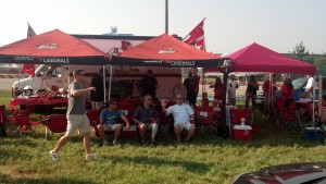 University of Louisville Tailgating. The Red Rage tailgater by Dave Magee and James Durst.