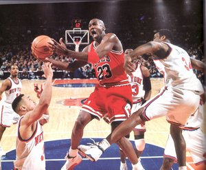 Michael Jordan against the Knicks