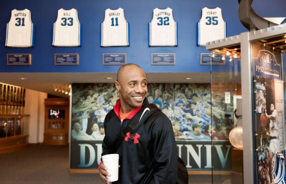 Jay Williams with coffee cup