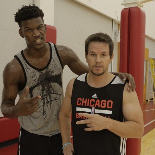 Jimmy Butler and Mark Wahlberg played one-on-one yesterday. No really.