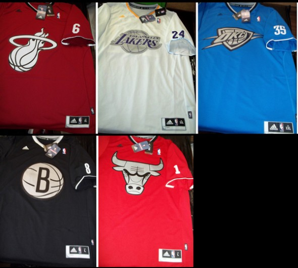 This image supposedly features the NBA's new line of Christmas day jerseys. Credit: ESPN's UniWatch