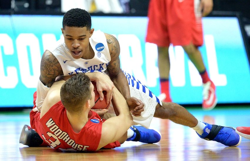 Stony-brook-lucas-woodhouse-tyler-ulis-ncaa-basketball-ncaa-tournament-first-round-kentucky-vs-stony-brook-850x546