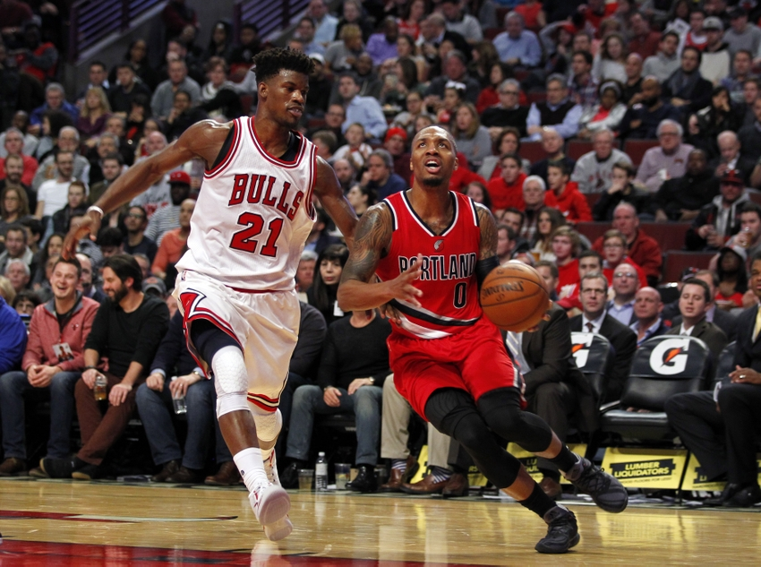 Image result for damian lillard jimmy butler