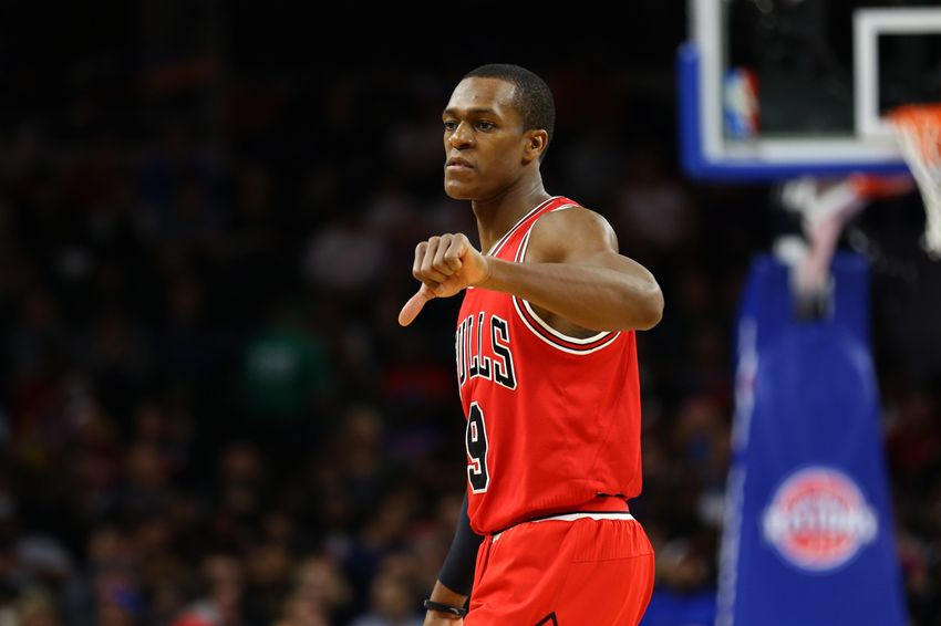 Dec 6, 2016; Auburn Hills, MI, USA; Chicago Bulls guard Rajon Rondo (9) against the Detroit Pistons at The Palace of Auburn Hills. The Pistons won 102-91.Mandatory Credit: Aaron Doster-USA TODAY Sports