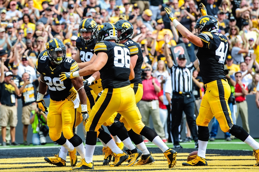 best college football games today ncaa football iowa