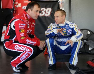 2013-Daytona-Wednesday-Ryan-Newman-Mark-Martin-Chat-In-Garage