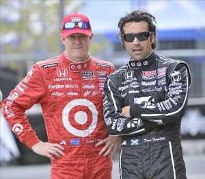 Chip Ganassi Racings's Scott Dixon and Dario Franchitti