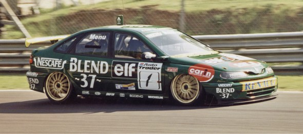 Alain Menu driving for Renault Williams in the 1998 BTCC. Credit: Tony Harrison.