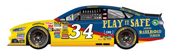 No. 34 David Ragan (Courtesy of NASCAR,com)