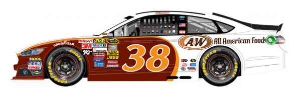 No. 38 David Gilliland (Courtesy of NASCAR.com)
