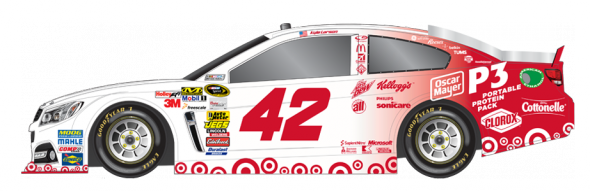 No. 42 Kyle Larson (Courtesy of NASCAR,com)
