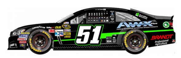 No. 51 Justin Allgaier (Courtesy of NASCAR,com)