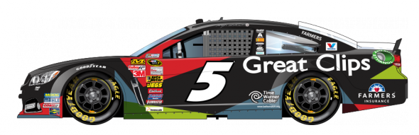 No. 5 Kasey Kahne (Courtesy of NASCAR,com)