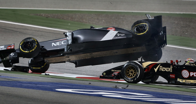 Pastor maldonado crash