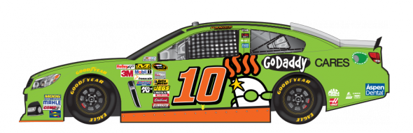 No. 10 Danica Patrick (Courtesy of NASCAR.com)