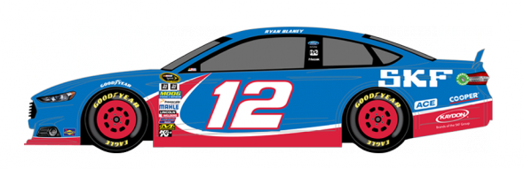 No. 12 Ryan Blaney (Courtesy of NASCAR.com)