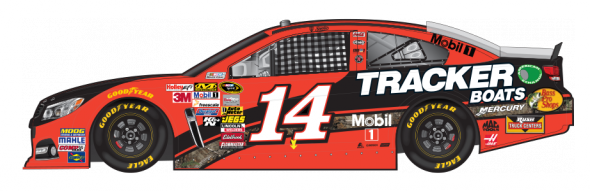 No. 14 Tony Stewart (Courtesy of NASCAR.com)